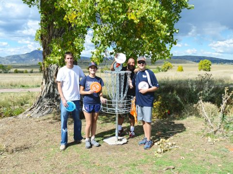 Image of people playing disc golf at Fehringer Ranch Park in Morrison, CO